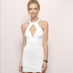 Tobi white cutout bodycon dress